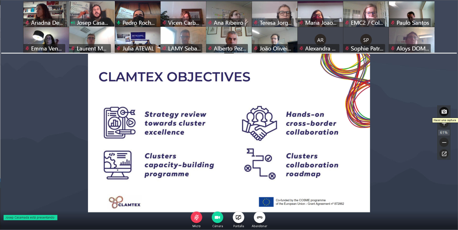 CLAMTEX S3 cross-regional roundtable