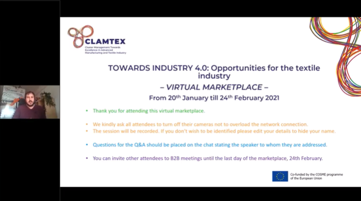 Successful start of the CLAMTEX Virtual Marketplace !
